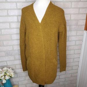 Loft Olive Open Sweater Pocket Cardigan
